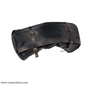 Basic black banana saddlebag