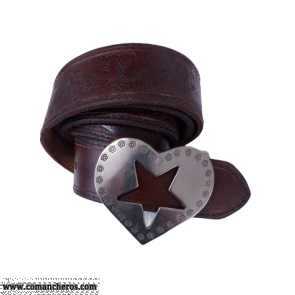 Belt with Heart-Star Buckle CT94