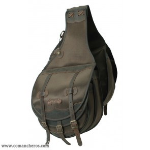 Large rear western saddle bag double pocket