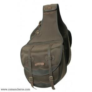 Large saddle bag for western saddle made Cordura STC and Leather