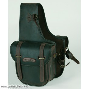 Medium rear saddle bag with quick release in Leather