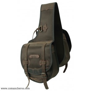 Rear Medium Western saddle bag in Cordura STC and Leather