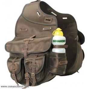 Rear saddle bag for Trekking saddle made Cordura STC and Leather