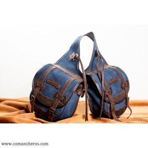 Medium rear saddle bag Comancheros Denim-Leather