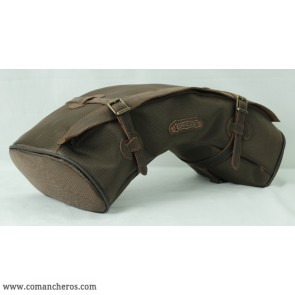 half monn bag made  Cordura STC and leather for western saddle