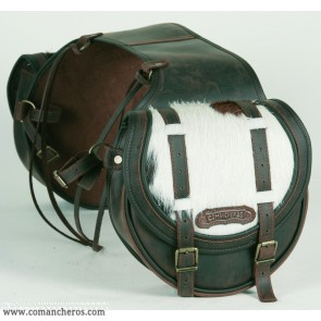 Rear saddlebag medium  size Comancheros made from Leather
