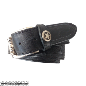 Black Leather Belt CT124