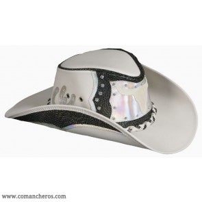 Black Leather Country Hat