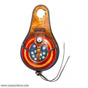 Bottle holder with American flag