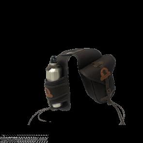 Bottle holder with nylon saddlebag