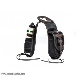Bottle holder with saddlebag