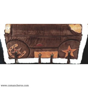Brown suede saddle pad