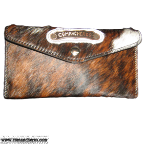 Calf hair wallet