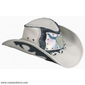 Country Blue Leather Hat