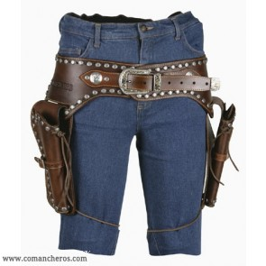 Double Pistol Holder Belt
