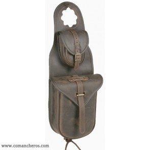 Double pocket western pommel bag
