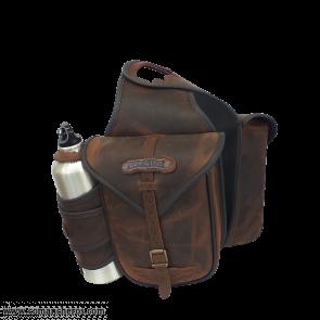 Double saddlebag with bottle holder