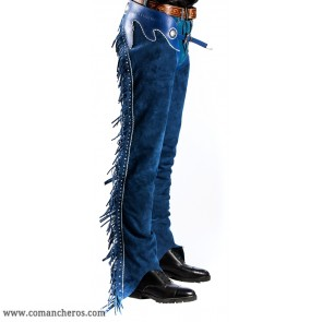 Elegant Reining Chaps in denim color