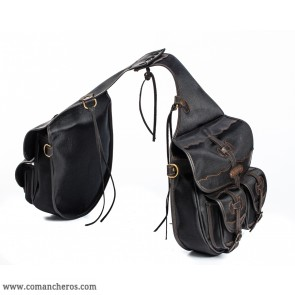Four-pocket riding saddlebags