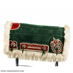 Green suede saddle pad