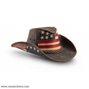 Hat Comancheros with American flag