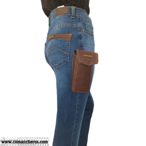 Jeans with Cell Phone Holder