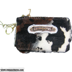 Keychain in cow hair