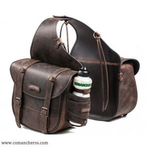 Large rear saddlebag in leather