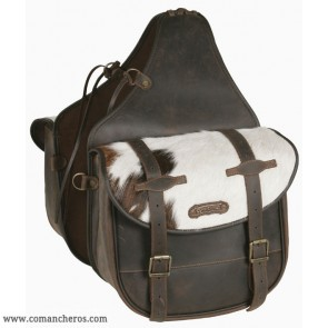 Large rear saddlebags in cowhide