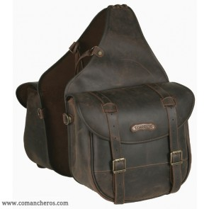 Large rear saddlebags in leather