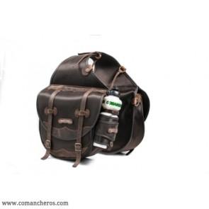 Large saddlebag with bottle holder