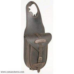 Leather pommel bag