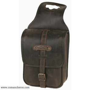 Leather square pommel bag