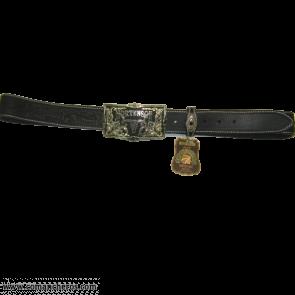 Longhorn leather belt CT64