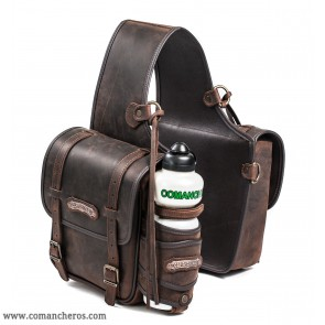 Medium rear saddle bag in leather