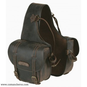 Medium rear saddlebags in leather