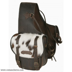 Medium rear saddlebags with cowhide