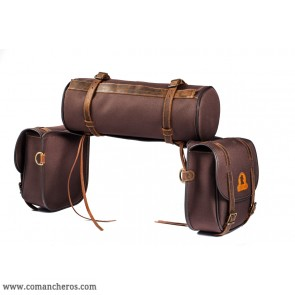 Mid-sized O'Bryan saddlebags with roll