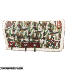 Military leather saddle pad
