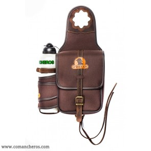Nylon pommel bag with bottle holder