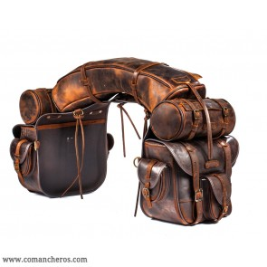 On Top saddlebags in leather