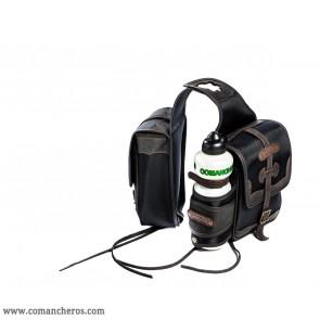 Pommel bag bottle holder