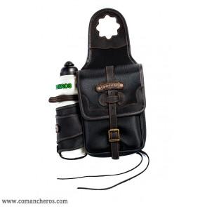 Pommel bag with bottle holder