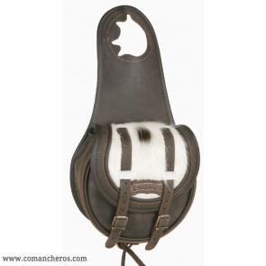 Pommel bag with cowhide