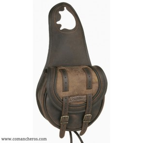 Pommel bag with double buckle