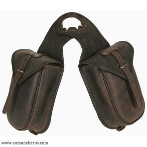 Quick release western pommel bag
