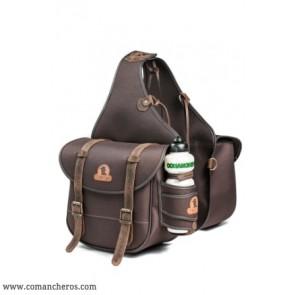 Rear saddlebag in nylon with bottle