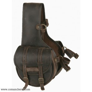 Rear saddlebags for western saddle