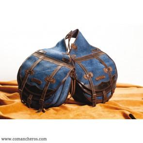 Rear saddlebags in denim