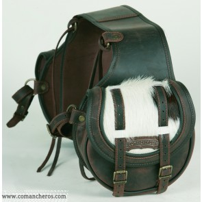 Rear saddlebag small size Comancheros made from Leather